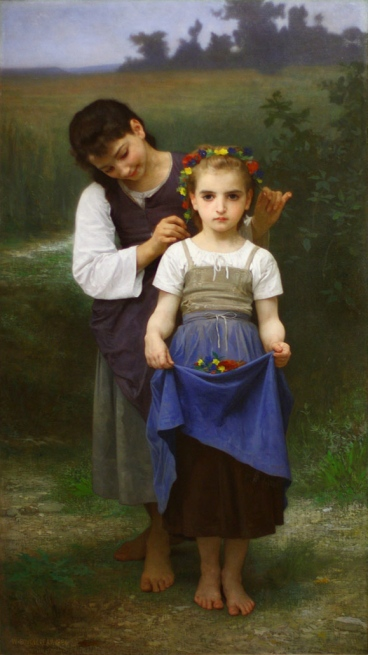 Crown_of_Flowers_(William-Adolphe_Bouguereau,_1884)